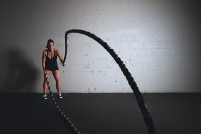 A woman doing fasted cardio
